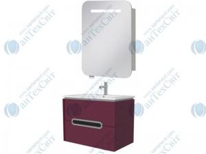 Комплект мебели ЮВЕНТА Prato 65 бордовый (Pr-65 бордовая + PrM-60)