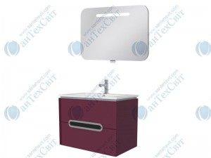 Комплект мебели ЮВЕНТА Prato 85 бордовый (Pr-85 бордовая + PrM-80)