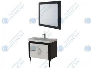 Комплект мебели ЮВЕНТА Ticino 80 black (Тс-80 black + ТсМ-80 black)