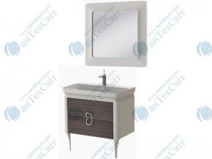 Комплект мебели ЮВЕНТА Ticino 105 white шпон (Тс-105 white шпон + ТсМ-80 white шпон)