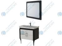 Комплект мебели ЮВЕНТА Ticino 105 black (Тс-105 black + ТсМ-80 black)