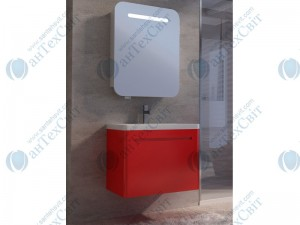 Комплект мебели ЮВЕНТА Tivoli 65 red (ТV-65 red + PrM-60)