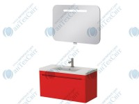 Комплект мебели ЮВЕНТА Tivoli 80 red (ТV-80 red + PrM-80)