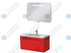 Комплект мебели ЮВЕНТА Tivoli 100 red (ТV-100 red + PrM-90)