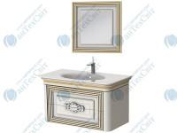Коплект мебели BOTTICELLI Treviso 100 white (Т-100 white + ТМ-80)