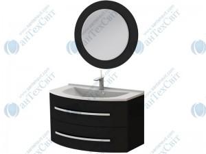 Коплект мебели BOTTICELLI Vanessa 90 black (Vn-90 black + VnМ black)