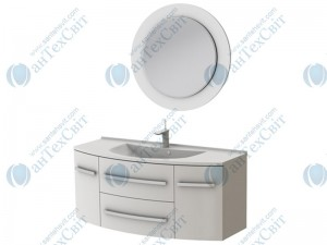 Коплект мебели BOTTICELLI Vanessa 120 white (Vn-120 white + VnМ white)