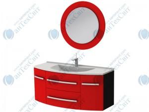 Коплект мебели BOTTICELLI Vanessa 120 red (Vn-120 red + VnМ red)