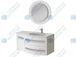 Коплект мебели BOTTICELLI Vanessa 110 white правый (Vndr white + VnМ white)