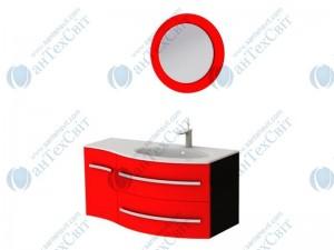 Коплект мебели BOTTICELLI Vanessa 110 red правый (Vndr red + VnМ red)