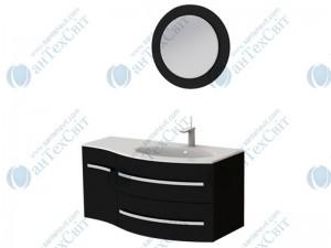 Коплект мебели BOTTICELLI Vanessa 110 black правый (Vndr black + VnМ black)