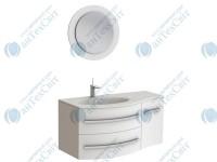 Коплект мебели BOTTICELLI Vanessa 110 white левый (Vndl white + VnМ white)