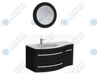 Коплект мебели BOTTICELLI Vanessa 110 black левый (Vndl black + VnМ black)