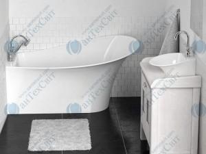 Мраморная ванна MARMORIN 155,3*91,6  Misa (634 155 920 хх х) правая