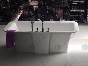 Мраморная ванна MARMORIN 179*89 Tytan (668 180 0xx xx x) с крышкой