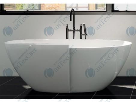 Мраморная ванна MARMORIN 162,8*87,2 Zora (P_W_531_01_1628)