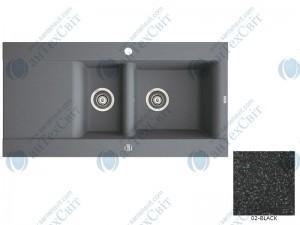 Гранитная мойка MARMORIN Voga II (712513002) black