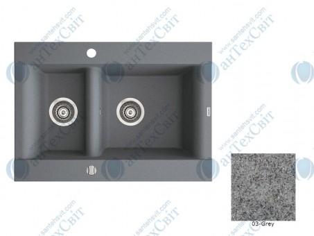 Гранитная мойка MARMORIN Voga II (712503003) gray
