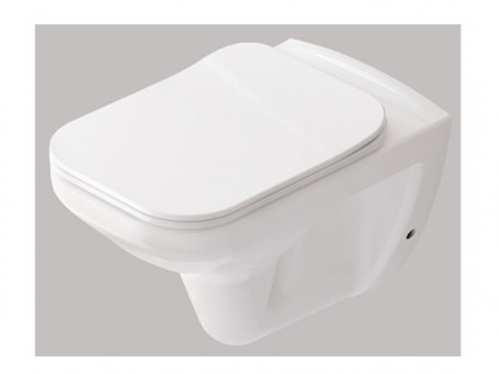 Чаша подвесного унитаза IDEVIT Nova с сиденьем Slim soft-close (3504-0605 + 53-02-06-033)