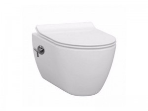 Чаша подвесного унитаза IDEVIT Alfa с функцией биде, вентилем и сиденьем Ultra Slim Soft Close (3104-2617 + 53-02-06-007)