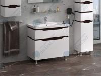 Умывальник с тумбой SANWERK Alessa 70 Канте (MV0000601) белый/венге