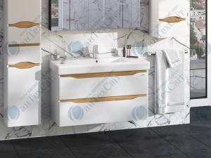 Умывальник с тумбой SANWERK Liga Air 90 Принц (MV0000394) белый/мессина