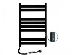 Электрический полотенцесушитель NAVIN Largo с таймером 500х800 (12-244152-5080) черный муар