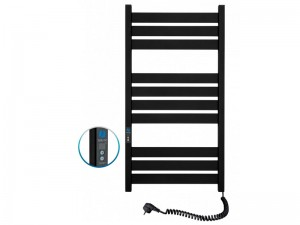 Электрический полотенцесушитель NAVIN Largo с таймером 500х1000 (12-244052-5010) черный муар