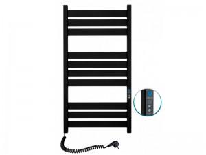 Электрический полотенцесушитель NAVIN Largo с таймером 500х1000 (12-244152-5010) черный муар