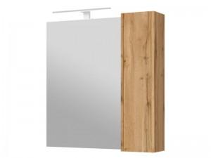 Зеркальный шкаф ЮВЕНТА Bronx (BrxMC 80) дуб вотан