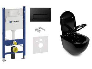 Инсталляция GEBERIT Duofix 458.126.00.1 + клавиша 115.105.DW.1 + подвесной унитаз NEWARC Modern 3823B NEW