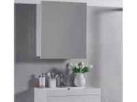Шкаф зеркальный FANCY MARBLE белый (ШЗ-700)