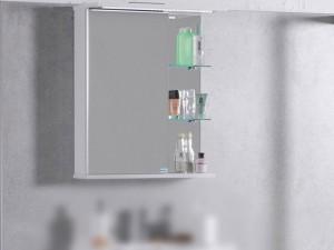 Шкаф зеркальный FANCY MARBLE белый (ШЗ-8)