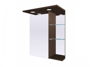 Шкаф зеркальный FANCY MARBLE венге (ШЗ-8В)