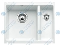 Керамическая мойка BLANCO Subline 350/150-U  глянцевый белый 514522