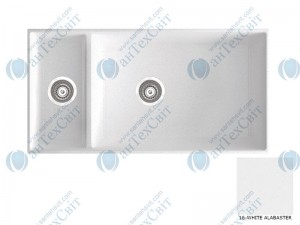 Гранитная мойка MARMORIN Olwin 1 525503016 white alabaster