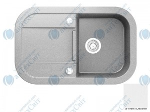 Гранитная мойка MARMORIN Laver 510113016 white alabaster
