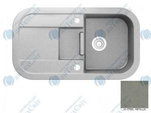 Гранитная мойка MARMORIN Laver 510513010 steel metalic