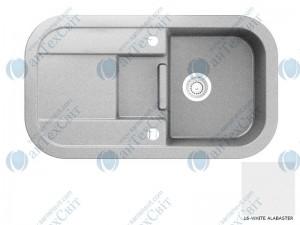 Гранитная мойка MARMORIN Laver 510513016 white alabaster