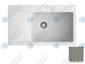 Гранитная мойка MARMORIN Halit 520113010 steel metalic