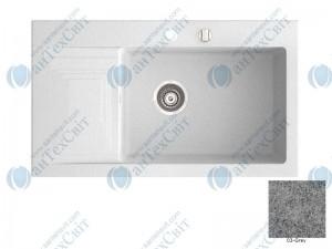Гранитная мойка MARMORIN Halit 520113003 grey