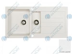 Гранитная мойка MARMORIN Tellur 380513016 white alabaster