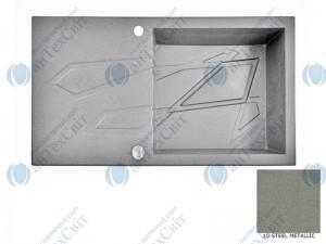 Гранитная мойка MARMORIN Foorn I 450113010 steel metalic
