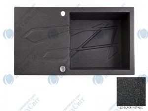 Гранитная мойка MARMORIN Foorn I 450113012 black metalic