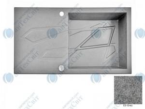 Гранитная мойка MARMORIN Foorn I 450113003 grey