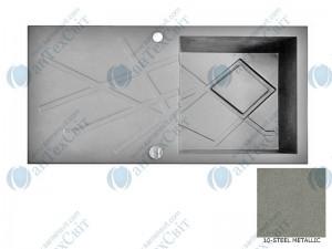 Гранитная мойка MARMORIN Foorn II 460113010 steel metalic