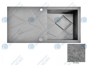 Гранитная мойка MARMORIN Foorn II 460113003 grey