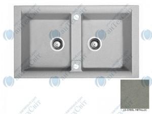 Гранитная мойка MARMORIN Profir 160203010 steel metalic