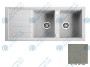 Гранитная мойка MARMORIN Profir 160213010 steel metalic