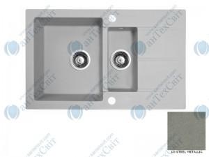 Гранитная мойка MARMORIN Bario 120533010 steel metalic